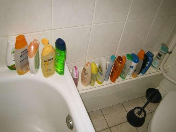Selon une étude menée par l'institut CSA en 2014, 54% des colocataires sont des actifs (Photo:salle de bain d'un appartement en colocation en2007).