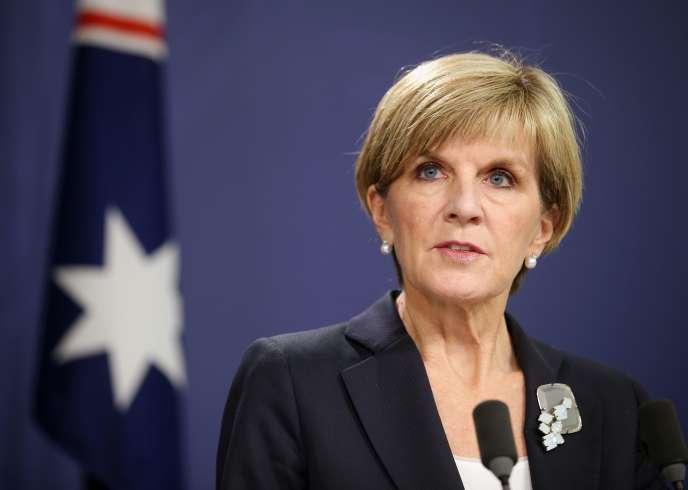 Julie Bishop, ministre des affaires étrangères de l'Australie, a qualifié ces allégations de «très sérieuses» et a estimé qu'elles remettaient en question l'intégrité du processus judiciaire, lundi27avril.