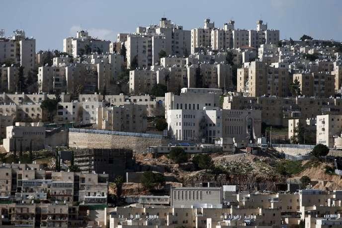 Des nouveaux logements israéliens dans la colonie de Neve Yaakov, à Jérusalem-Est, le 30janvier.