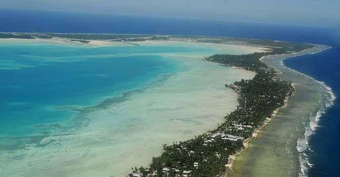 La capitale de l'atoll de Kiribati, Tarawa.