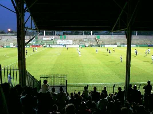 Le stade Bauer de l'équipe Red Star, à Saint-Ouen.