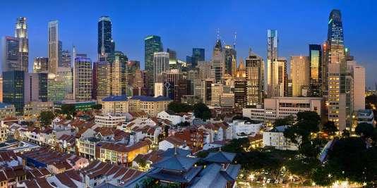 La «sky line» de Singapour.