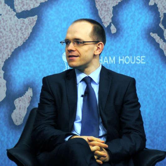 Evgeny Morozov lors d'une conférence à Londres, en mars 2013.