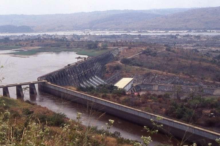 Le barrage du Grand Inga 1.