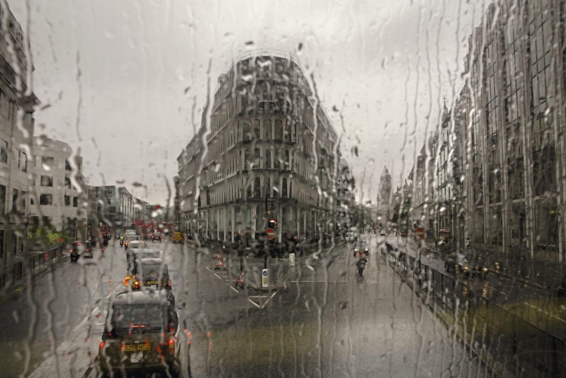 Vue du cœur de Londres en bus.
