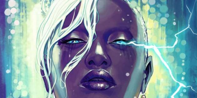 Une couverture mettant en scène Storm, et signée Stéphanie Hans.