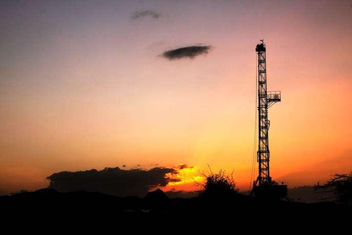 Une vue d'une raffinerie de pétrole  dans le bassin de Lokichar, au Kenya.