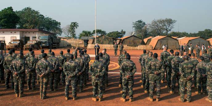 Des troupes françaises de la mission «Sangaris» en décembre2014 en République centrafricaine.