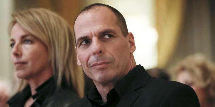 Le ministre des finances grec Yanis Varoufakis et sa femme, Danae.