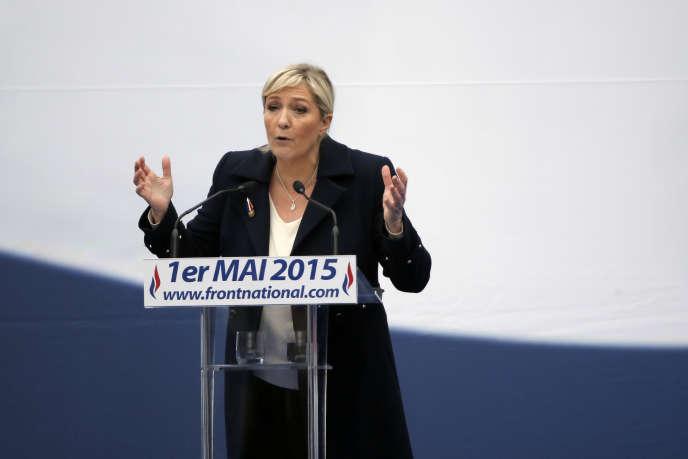 Marine Le Pen, en mai 2015 à Paris.