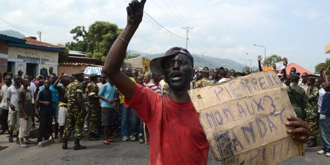 Dans les rues de Bujumbura, le 1ermai.
