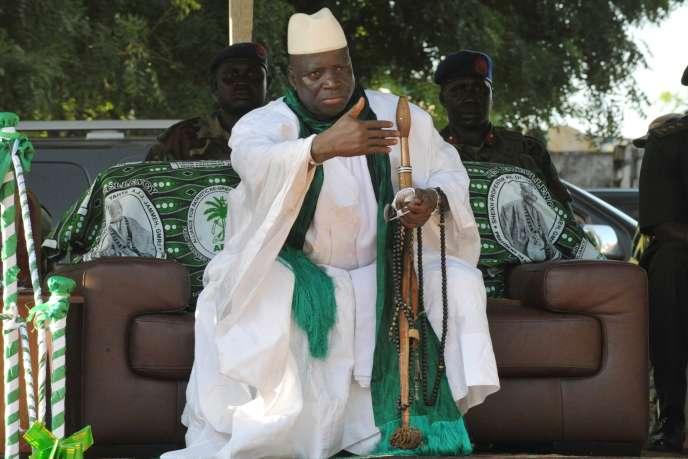Le président gambien, Yahya Jammeh, en novembre 2011 à Banjul, la capitale.
