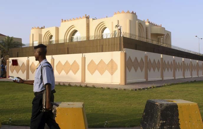 Le bureau de représentation talibane, à Doha, en 2013.