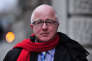 Former British Labour Party MP Denis MacShane arrives at the Old Bailey court in central London on December 23, 2013 for sentencing after pleading guilty to falsely claiming thousands of pounds in parliamentary expenses. MacShane was sentenced to six months in jail after admitting making bogus expense claims amounting to nearly 13,000 GBP. AFP PHOTO / CARL COURT