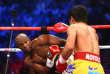 Le boxeur américain Floyd Mayweather face au Philippin Manny Pacquiao.
