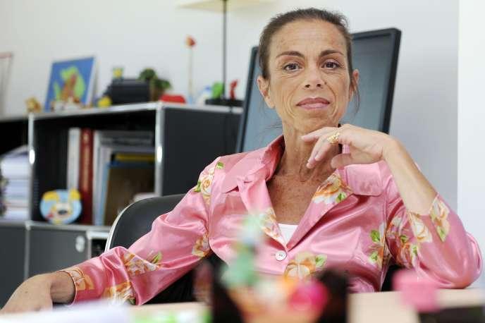 Agnès Saal, le 31 juillet 2014, alors présidente de l'Institut national de l'audiovisuel.
