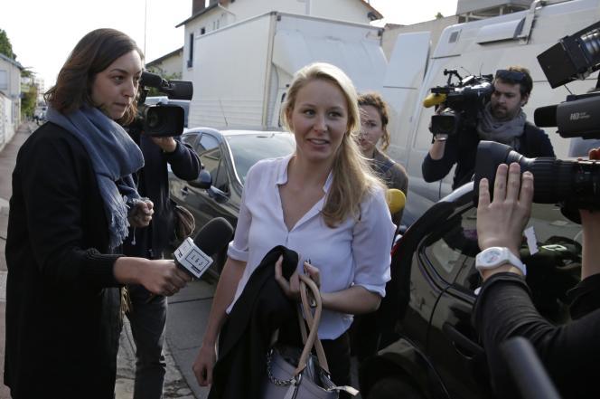 Marion Maréchal-Le Pen, au siège du FN, à Nanterre, le 4 mai.