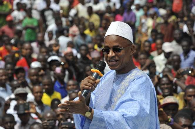 Cellou Dalein Diallo, chef du premier parti d'opposition guinéen, l'Union des forces démocratiques de Guinée (UFDG) en 2015, à Conakry.