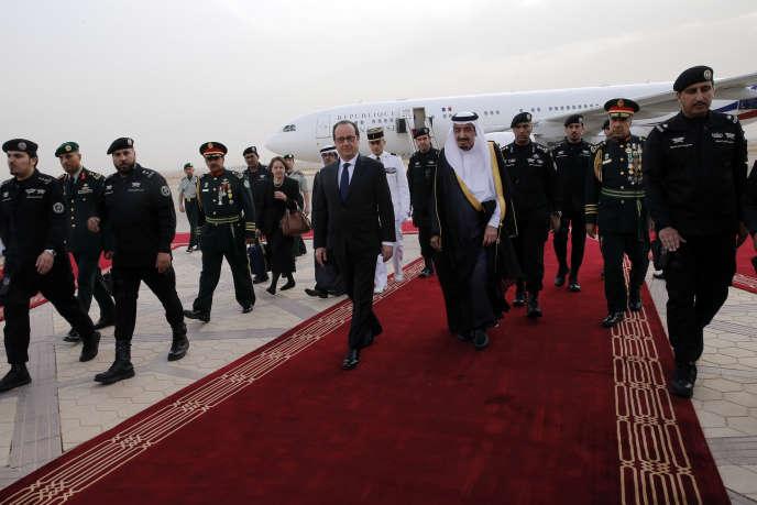 François Hollande et le roi Salman à Riyad, le 4 mai.