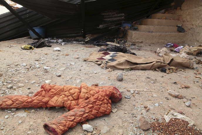 Une photo du massacre qui aurait été commis le 16 avril en Angola.