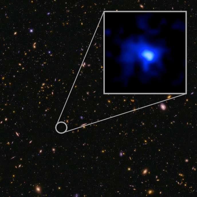 Une image de la galaxie la plus lointaine de la Terre, prise par le télescope KeckI, à Hawaï le 5 mai 2015.