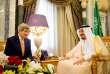 John Kerry et le roi Salman lors d'une précédente rencontre à Riyad, en 2015.