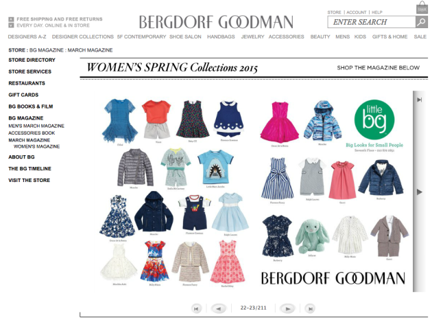 The Magazine, catalogue en ligne du magasin de luxe new-yorkais Bergdorf Goodman.