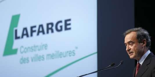 L'ex-PDG de Lafarge Bruno Lafont fait partie des six cadres mis en examen.