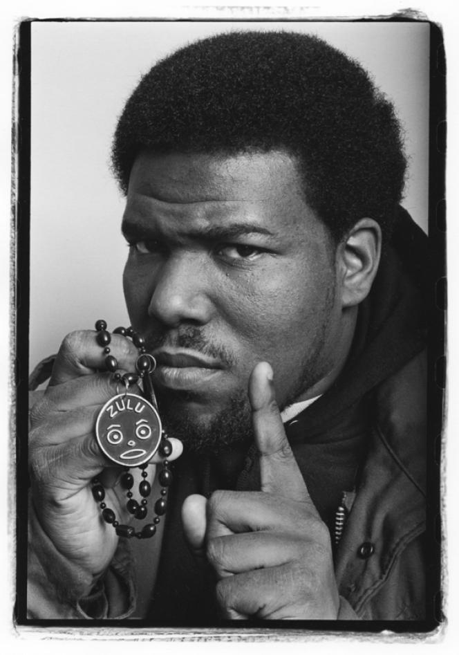 Le rappeur Afrika Bambaataa à New York en 1983.