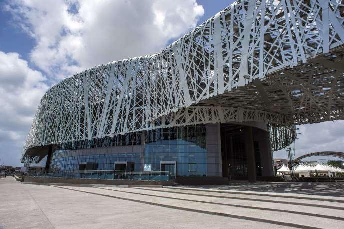 Le mémorial ACTe, inauguré le 10 mai 2015 par le président François Hollande à Pointe-à-Pitre (Guadeloupe). AFP PHOTO / NICOLAS DERNE
