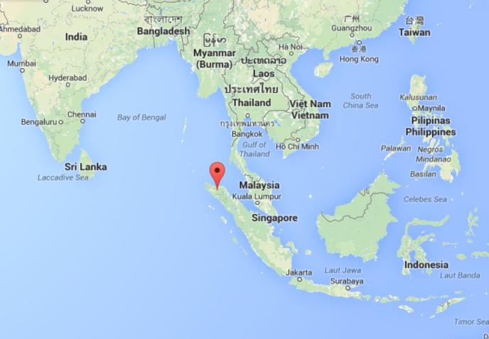 L'île de Sumatra, en Indonésie.