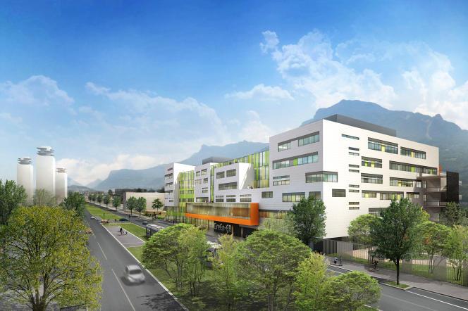 Vue d'architecte du bâtiment Green-er, pensé par les ingénieurs de Grenoble INP.