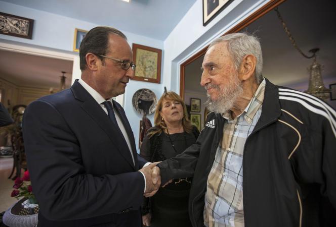 François Hollande s'est entretenu avec Fidel Castro, lundi 11 mai, à La Havane.