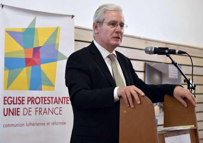 Laurent Schlumberger, président du Conseil national de l'Eglise protestante unie de France, en mai 2015, à Sète.