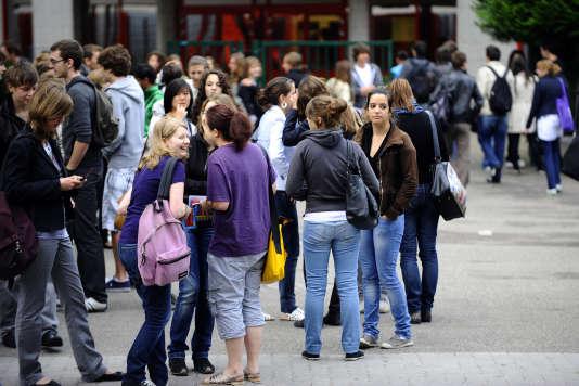 Des élèves de terminale à Strasbourg.