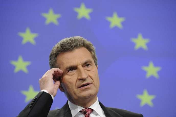 Günther Oettinger, commissaire à l'économie numérique: