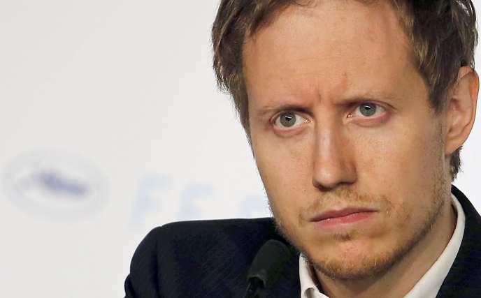 Le réalisateur hongrois Laszlo Nemes lors de la conférence de presse du film
