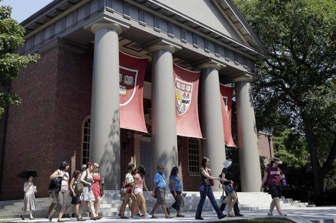Campus de l'université d'Harvard à Cambridge, en 2012