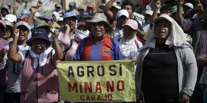 Le Pérou, dont les exportations dépendent à 60 % du secteur minier, a vu plusieurs projets interrompus au cours des dernières années en raison de conflits sociaux.
