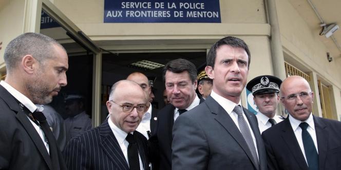Manuel Valls à Menton, samedi après-midi. Il y a exprimé l'opposition de la France à un système de quotas migratoires européen pour les réfugiés.
