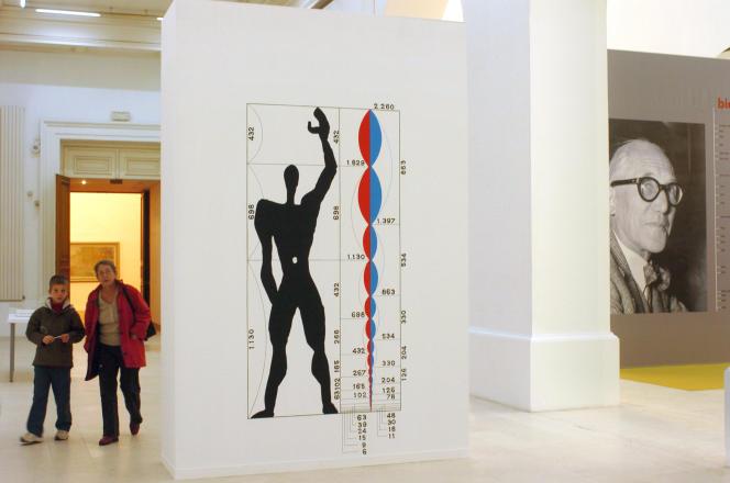 Lors de l'exposition consacrée à l'architecte LeCorbusier, en 2006, au Musée des beaux-arts de Nantes.