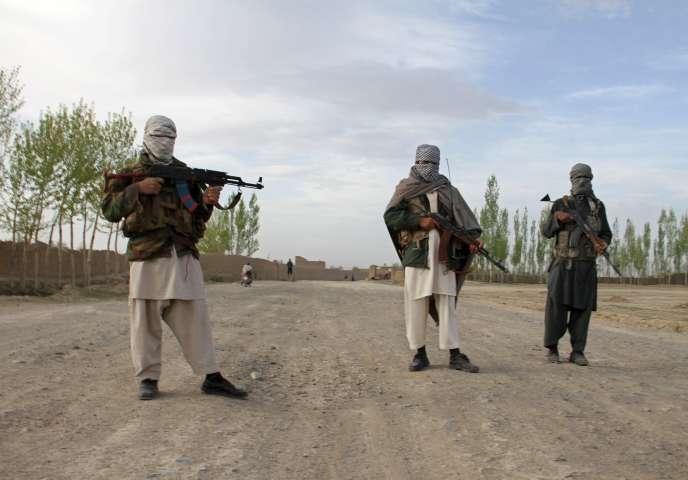 Des talibans dans la province afghane de Ghazni en avril.