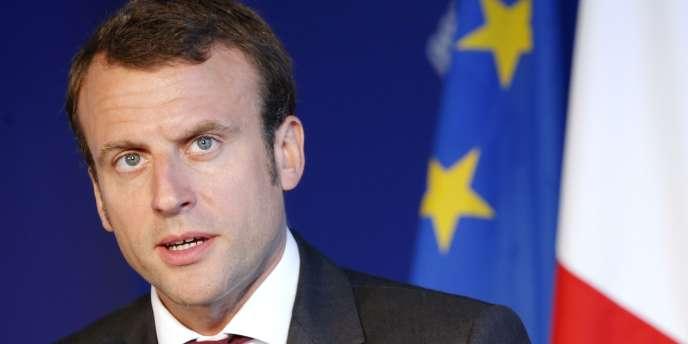 Le ministre de l'économie Emmanuel Macron au