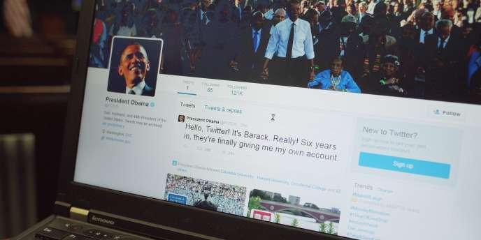 Le premier tweet de Barack Obama sur @Potus en mai 2015 :«« Bonjour Twitter ! C'est Barack. Après six ans, ils me donnent enfin mon propre compte »