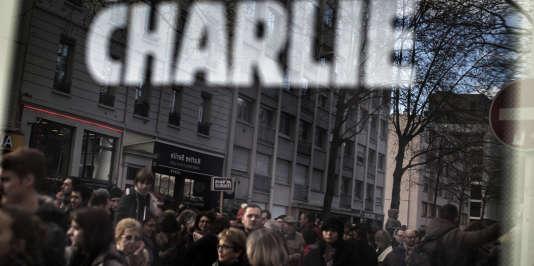 """Lors de la """"marche républicaine"""" en hommage aux 17 victimes des attentats de janvier 2015, le 11 janvier 2015 à Lyon."""