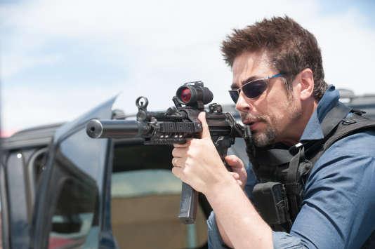 "Benicio Del Toro dans le film américain de Denis Villeneuve, ""Sicario""."