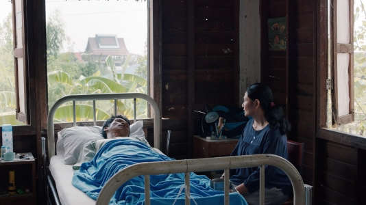 "Une scène du film thaïlandais d'Apichatpong Weerasethakul, ""Cemetery of Splendour"" (""Rak ti khon kaen"")."