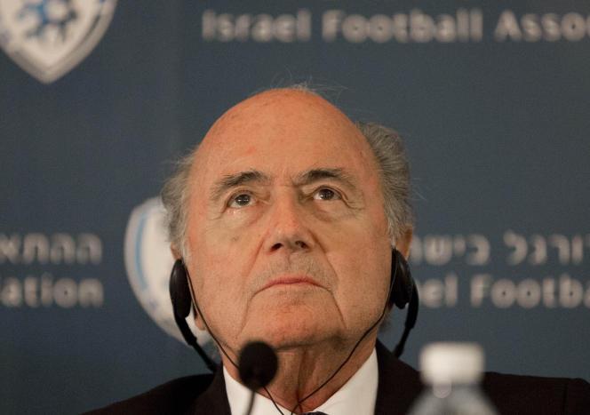 Le président de la FIFA Joseph Blatter, le 19 mai, à Jérusalem.