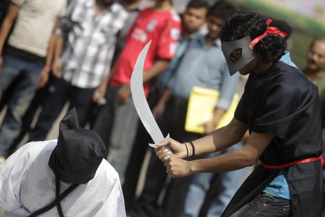 A Dacca, au Bangladesh, lors d'une manifestation contre l'exécution de ressortissants   bangladais, en 2011.