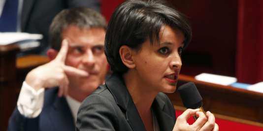 Najat Vallaud-Belkacem à l'Assemblée nationale en mai 2015.